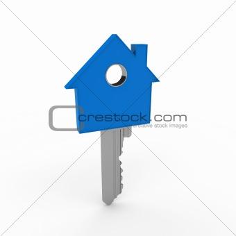 3d home key blue