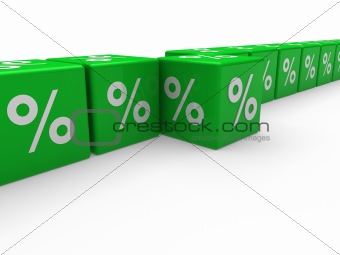 3d green sale cube percentage