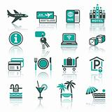 Recreation, Travel &amp; Vacation, icons set.