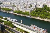 Paris, panorama from the Eiffel tower
