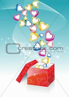 Box With Hearts