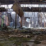interior of a vandalized abandoned structure