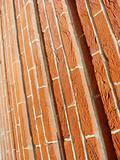 red orange brown unusual brick pattern