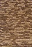large brown beige brick wall