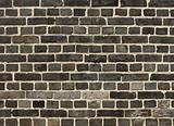 unusual gray black brick wall
