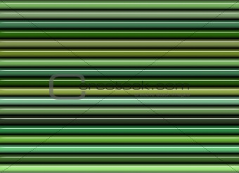 3d render of vertical stacked shiny glossy tubes in green colors