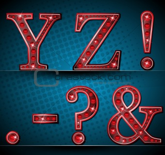 Set Letters With Red LED Lamp