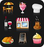 Cafe icon set.  