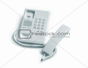 Gray Telephone And Receiver