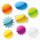 Multi-colored realistic stickers