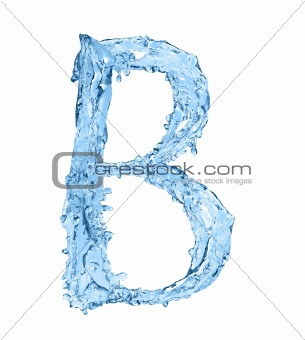 alphabet made of frozen water - the letter B