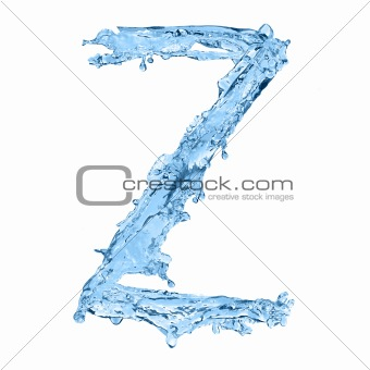 alphabet made of frozen water - the letter Z