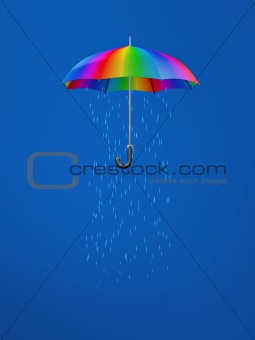 umbrella with rain inside