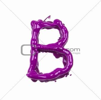 pink oil alphabet - letter B