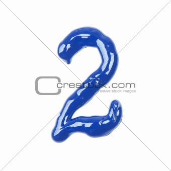 blue oil numbers - two