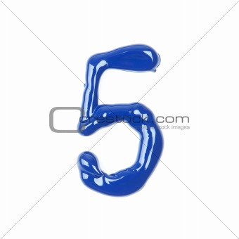 blue oil numbers - five