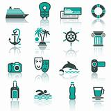 Travel, Vacation & Recreation, icons set.