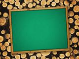 blackboard at lumber background