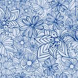 Blue floral pattern