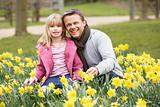 Father And Daughter In DaffodilsFather And Daughter In Daffodils