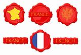 France wax stamps