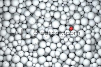 single red pearl on white murmur