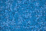 cubes in blue