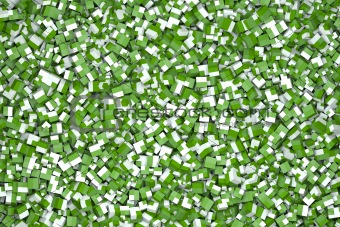 cubes in green and white