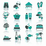 Vacation, Travel &amp; Recreation, icons set.