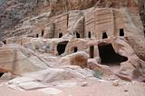 Ancient Tombs at Petra in Jordan