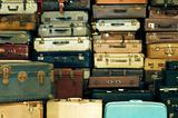 Old vintage suitcases
