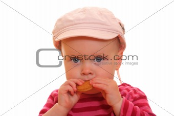 Toddler with cookie