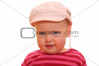 Toddler with cap