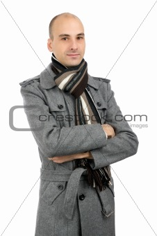 Portrait of handsome man in a coat