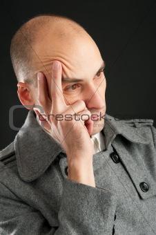 young pensive man