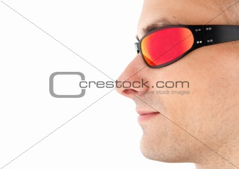 closeup man in sunglasses