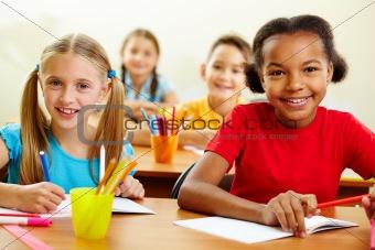 Classmates at lesson