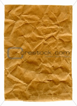 Crumpled paper isolated