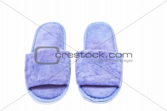slippers isolated on the white background