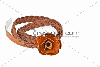 brown belt  on white background