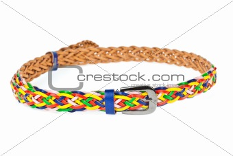 colorful belt  on white background