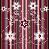 Floral striped seamless pattern