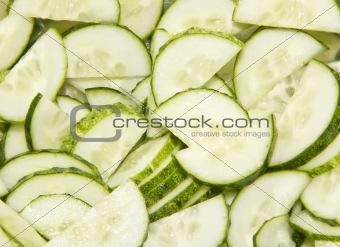cutted cucumbers