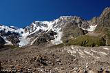 summer view of Monte Rosa glacier