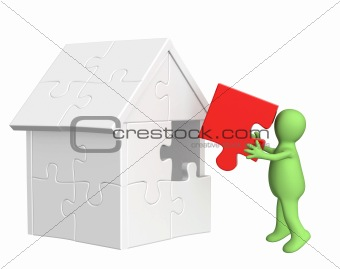 3d puppet, building the house