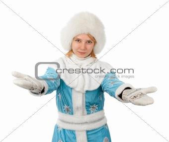 Beautiful girl in new year costume