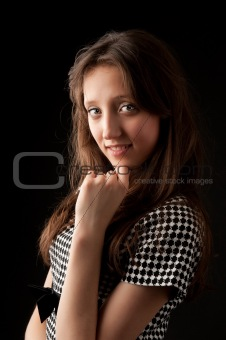 beautiful young woman looking happy