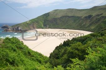 green around Torimbia beach