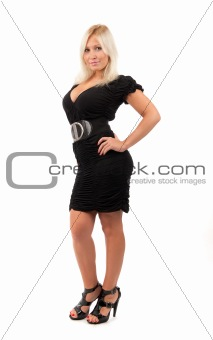 sexy woman on white background
