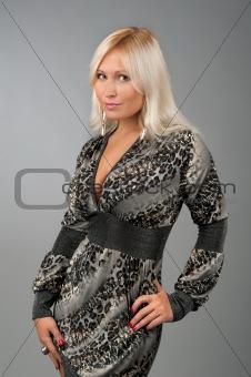 beautiful smiling blonde woman